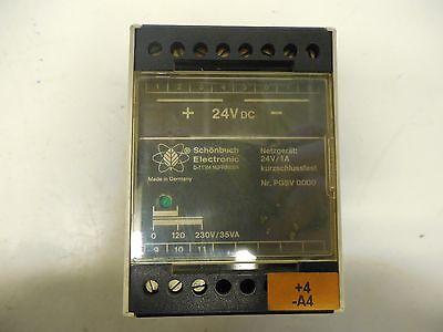 Schonbuch Electronic Reactor Relay D-71154 24v Volt 1a A Amp 230v35va