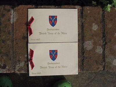 Christmas Card 1947 Headquarters British Army of the Rhine