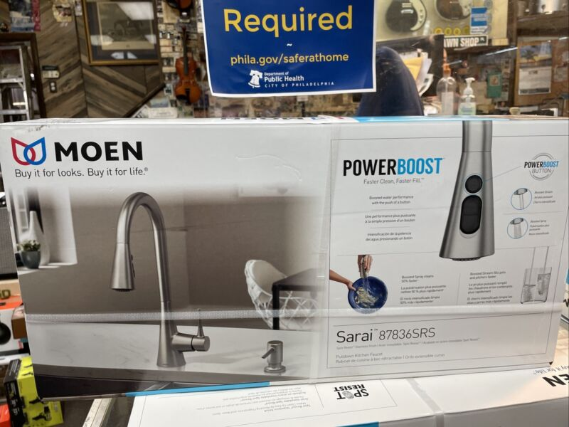 Moen Sarai 87836SRS Pulldown Kitchen Faucet New In The Box Free Shipping