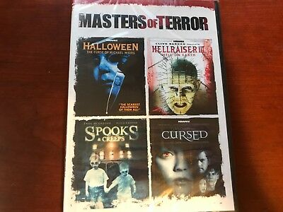Halloween Spook Movie (Masters Of Terror Halloween Hellraiser Cursed Spooks DVD Brand New Sealed)