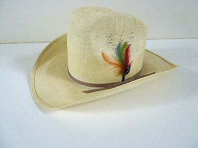 c55860e078178 Eddy Bros Straw Hat Cowboy Western Hat Size 7 - Vintage - Excellent  Condition