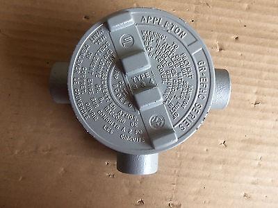 New Appleton Explosion Proof Outlet Box Gr-efhc Fire Alarm