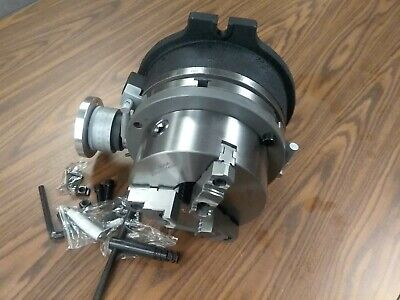 10 Horizontal Vertical Rotary Table W. 8 3 Jaw Chuck Centering Adapter