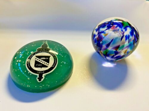 Vintage Desktop Paper Weights For Your Office Or Home; Quantity of 2
