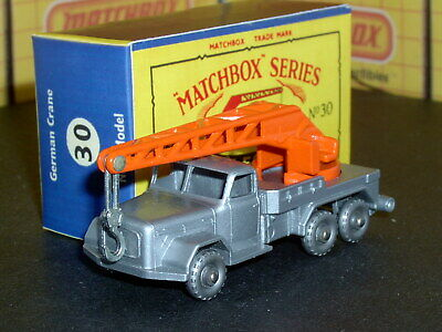 Matchbox Lesney Magirus-Deutz 6 Wheel Crane 30 b6 20SPW SC6 VNM & crafted box