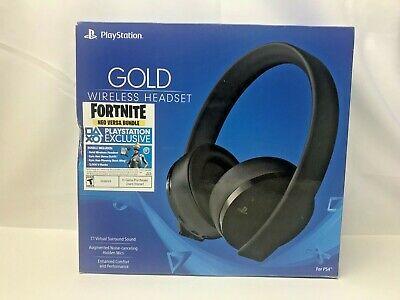 Sony Fortnite Neo Versa Gold Wireless Stereo Headset for PlayStation 4 Jet Black