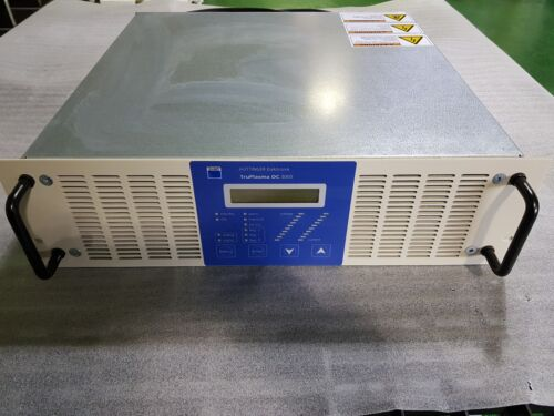 As-Is TRUMPF HUTTINGER ELECTRONIC TruPlasma DC3005 Plasma Excitation Power Sorce