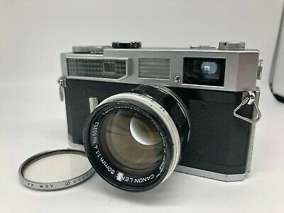 【EXC+3】 Canon 7 Rangefinder Film camera + Lens 50mm f/1.4 L39 From JAPAN