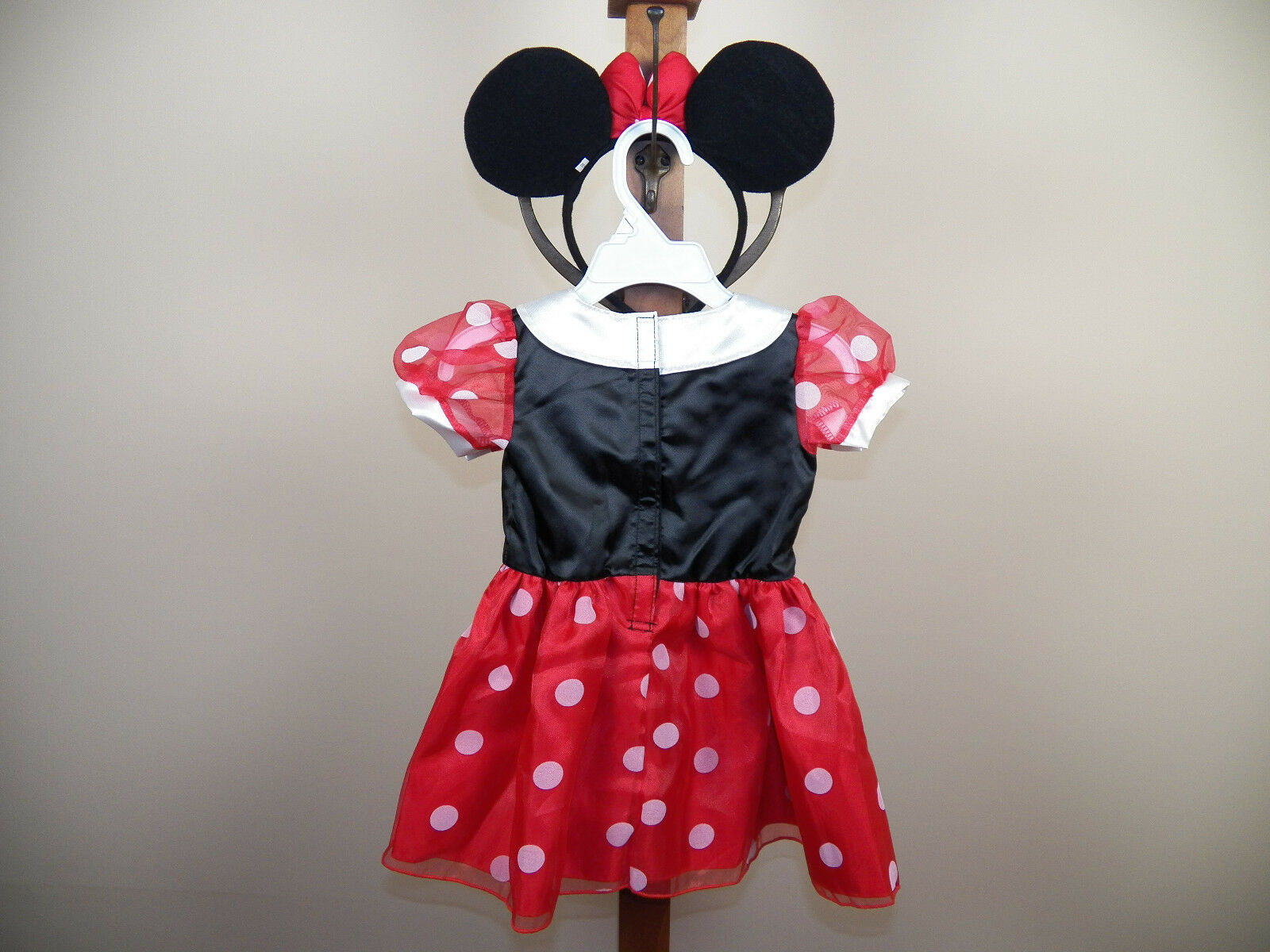 disney baby minnie mouse halloween costume size 3/6m, 6/9m, 12/18m