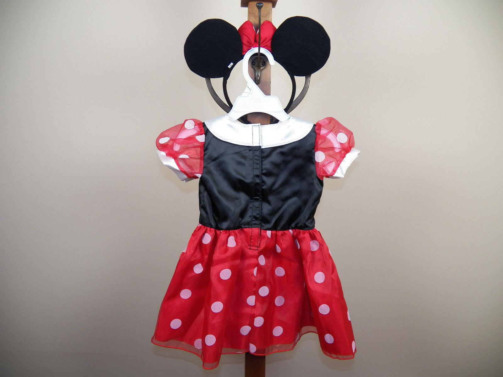 disney baby minnie mouse halloween costume size 3/6m, 6/9m, 12/18m