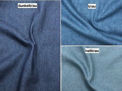 Stoff-farben (Jeans Stoff Stretch uni 3 Farben Breite 145cm ab 50 cm)