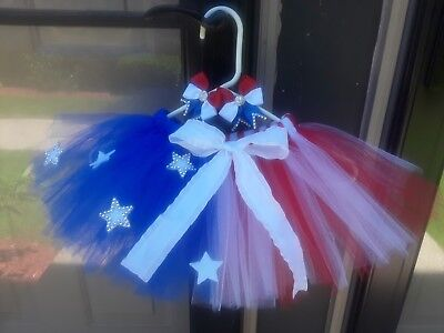 4th of July Tutu  Red, White, and Blue, Girls set. American ](Red White And Blue Tutu)
