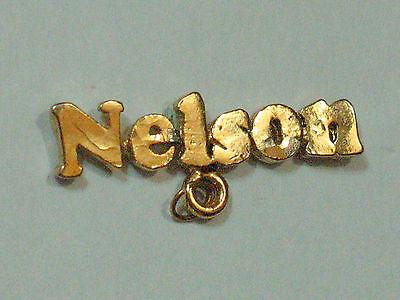 Nelson Name Metal Badge  Super Pin! (#50)
