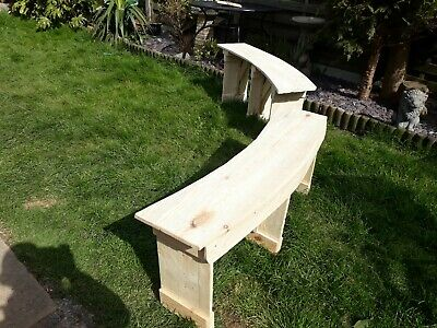 1 X 4 Ft Curved tree or fire pit Garden Bench Reclaimed Timber  Hand Made