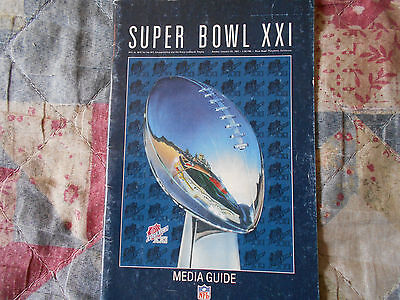 1987 Super Bowl Media Guide New York Giants Denver Broncos Nfl Xxi 21 Ny Den Ad