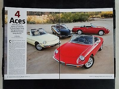 1966 to 1993 Alfa Romeo Spider  - 10 Page Article - Free Shipping