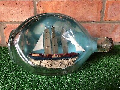 Vintage Ship In A Bottle Haig's Dimple Whisky Bottle, Nautical Ship Sea