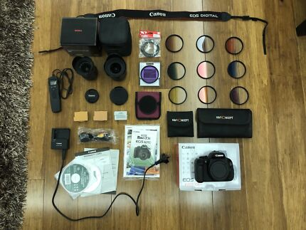 Canon 600D DSLR Camera APS-C 18.0MP With Lenses & Accesories!!