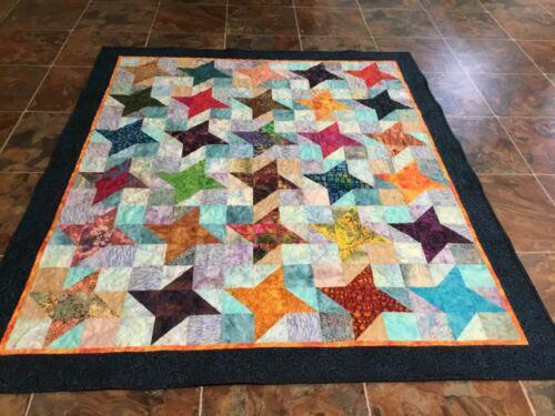 Handmade Batik Throw, or Lap Quilt— 52 x 60 1/2 inches