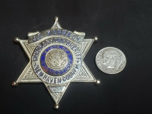HONORARY DEPUTY SHERIFF NEW HAVEN COUNTY BADGE, CONNECTICUT USA