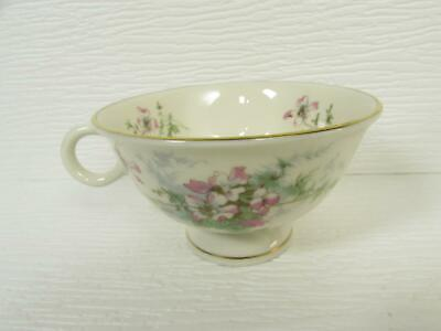 Apple Blossom by Haviland Coffee Cup New York Pink Flowers Cream Gold Trim b268 ()