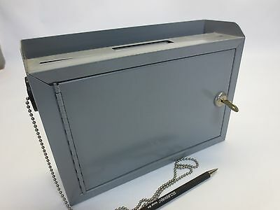 Suggestion Box Keyed - With Chained Pen - From Closed Hospital
