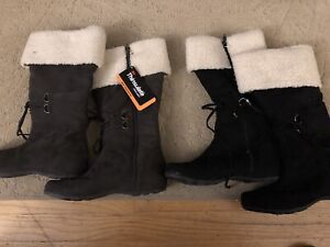 Thinsulate Suede Winter Boots with zipper