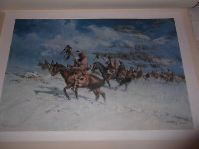 Frank Mccarthy     Snow Moon     Unframed   Original Signed Print 1979