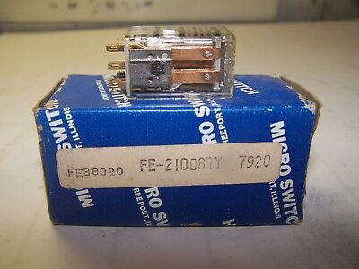 New Micro Switch Relay 12 Vdc 185 Ohms Fe-21008ry