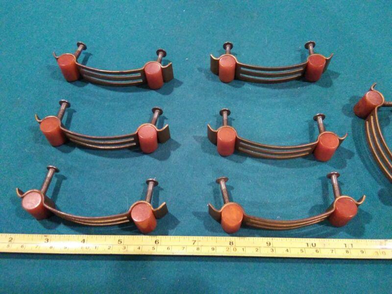 Lot Of 7 ANTIQUE DRAWER PULLS VIntage ART DECO 1930