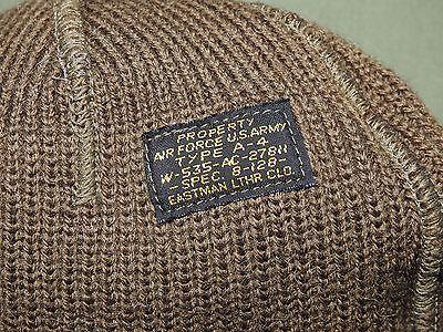 US Army AAF WW2 EASTMAN A-4 KNIT WOOL MECHANIC'S CAP Beanie Watch Hat Vtg - Style Knit Beanie Hat