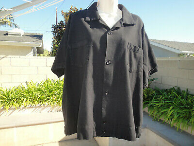 Billy Los Angeles BUTCHER Shirt, 100%Cotton, Side Buttons Black Men Sz X-Large