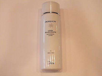 DIORSNOW WHITE REVEAL LOTION 2 RICH ALL SKIN TYPES - 6.7 FL OZ - NEW Diorsnow White Reveal Lotion