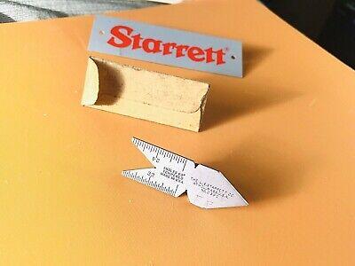 Starrett No. C391 Tempered Steel Thread 60 Degree Center Gage. Usa Made