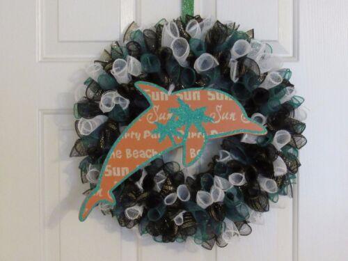 Dolphin Sign Deco Mesh Wreath