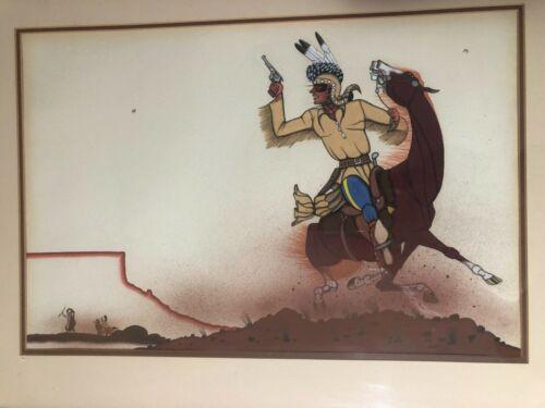BEATIEN YAZZ - ORIGINAL NAVAJO PAINTING – Artist Hand Signed