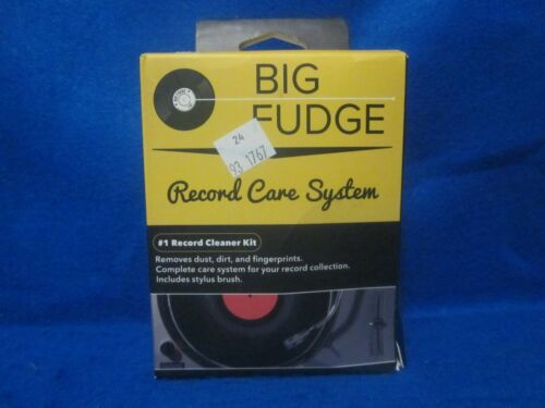 BIG FUDGE  Record Cleaner Kit - Complete 4-in-1 Vinyl Cleaning Solution