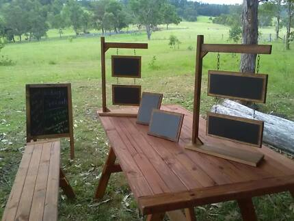 Free Standing Square or Rectangular 2-Tier Hanging Chalkboards
