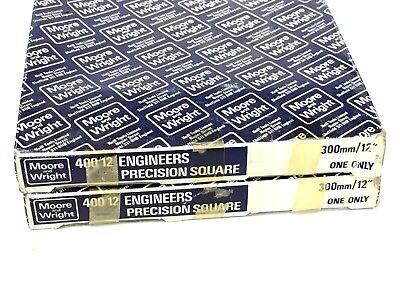 12 Precision Machinist Square Moore Wright Sheffield England No. 40012 300mm