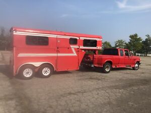 Diesel Truck and Horse Trailer