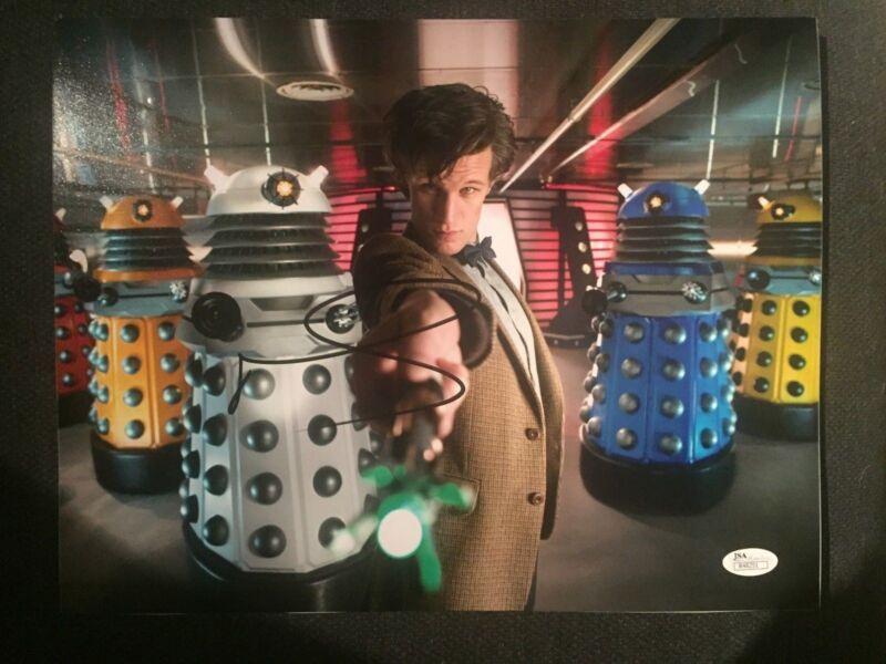 Doctor Who Matt Smith Autographed Signed 11x14 Photo JSA COA C