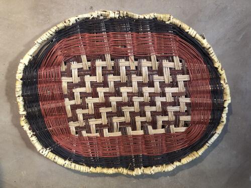 LARGE Vintage HOPI PIKI Tray Basket Plaque 22 x 18