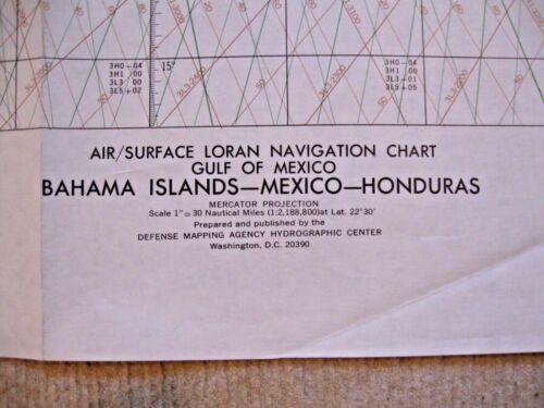NAUTICAL NAVIGATIONAL CHART # VL30-34B GULF OF MEXICO-Bahama Is, Mexico, Hondura