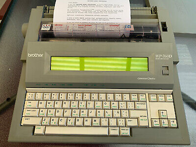 Brother Wp-760d Portable Word Processor Electronic Typewriter Wfloppy Disk Work