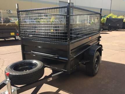 box trailer 7x4 hi side $1350 12 months priv rego cage include