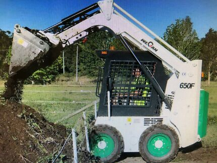 We can skid steer bobcat with all attachments