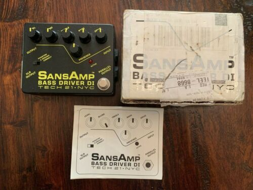 Tech 21 SansAmp Bass Driver DI Bass Guitar Pedal