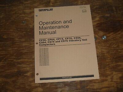 Cat Caterpillar Cs56 Vibratory Compactor Owner Operator Maintenance Manual C7f1-