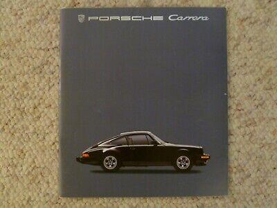 1985 Porsche 911 Carrera DELUXE Showroom Advertising Sales Brochure SPANISH RARE