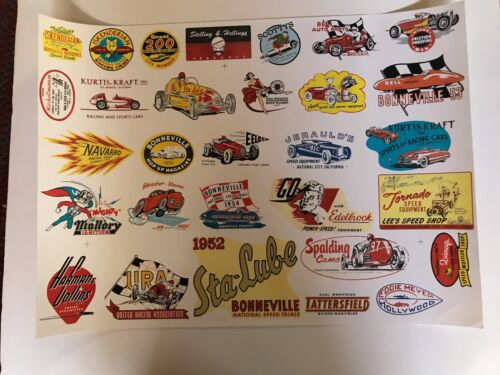 """VINTAGE DECAL POSTER MEASURES 25"""" X 18"""""""